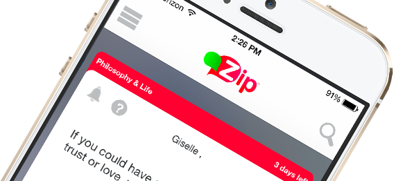 Zip on iPhone and Android
